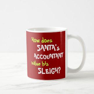 Funny Santa Christmas Accounting Joke Basic White Mug