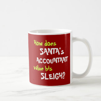 Funny Santa Christmas Accounting Joke Coffee Mug