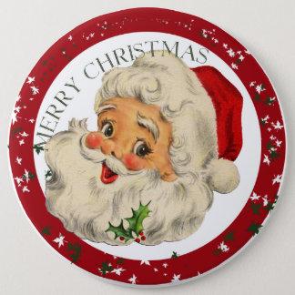 Funny Santa ~ Christmas Button