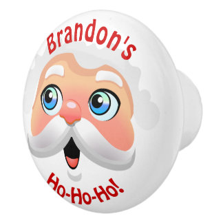 Funny Santa Claus Cartoon Ceramic Knob