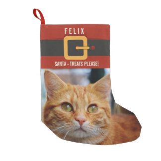 Funny Santa Claus Cat Photo and Name Personalized