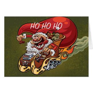 Funny Santa Claus Christmas Card Red Hot Santa