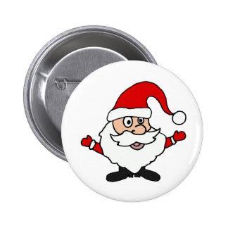 Funny Santa Claus Christmas Design 6 Cm Round Badge