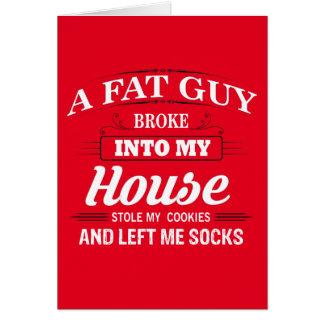 Funny Santa Claus Christmas Saying Greeting Card