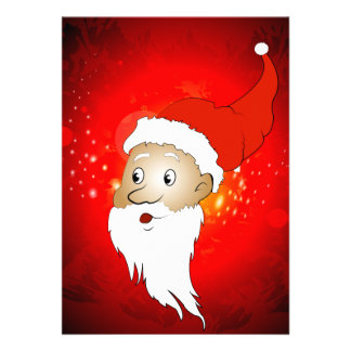 Funny Santa claus Personalized Announcements