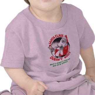 Funny Santa Claus Kids Shirt - Santa Don t Exist