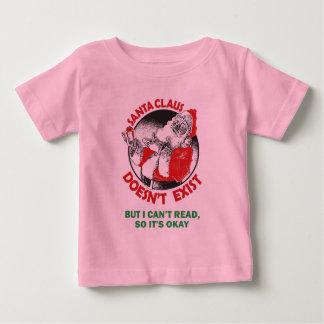 Funny Santa Claus Kids Shirt - Santa Don't Exist..
