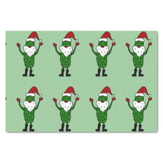 Funny Santa Claus Pickle Tissue Paper