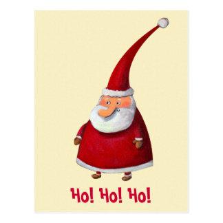 Funny Santa Claus Postcard