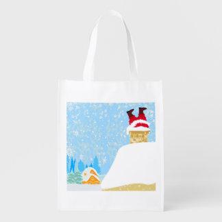 Funny Santa Claus Reusable Grocery Bag