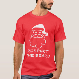 Funny Santa Claus t shirt | Respect the beard