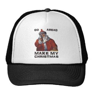 Funny Santa Clause aiming gun - make my Christmas! Hat