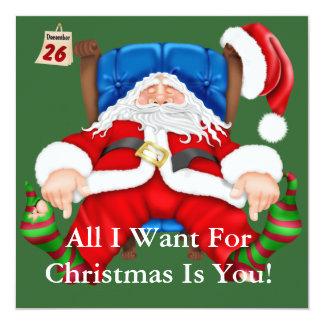 FUNNY Santa Clause Holiday Party Invitations