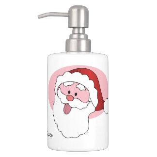 Funny Santa custom bathroom set