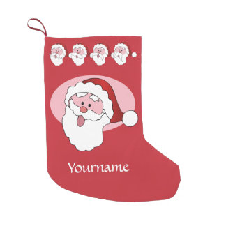 Funny Santa custom Christmas stocking