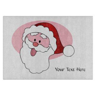 Funny Santa custom cutting board