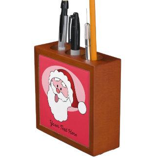 Funny Santa custom desk organizer Pencil/Pen Holder