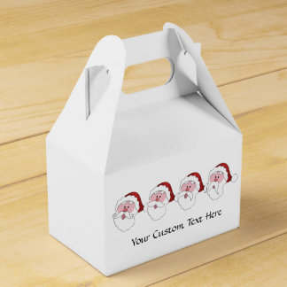 Funny Santa custom favor box