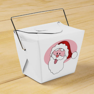 Funny Santa custom favor box Wedding Favour Box