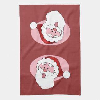 Funny Santa custom kitchen towel