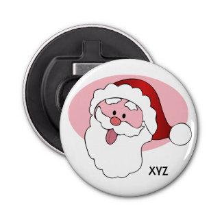 Funny Santa custom monogram bottle opener