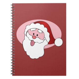 Funny Santa custom notebook