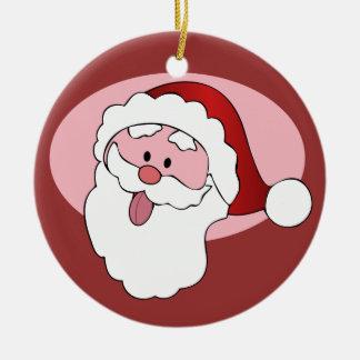 Funny Santa custom ornament