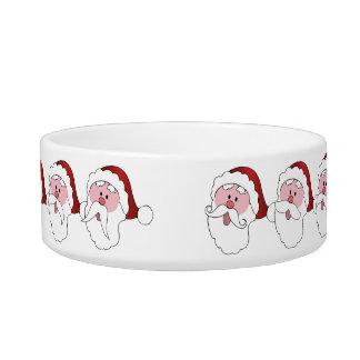 Funny Santa custom pet bowls