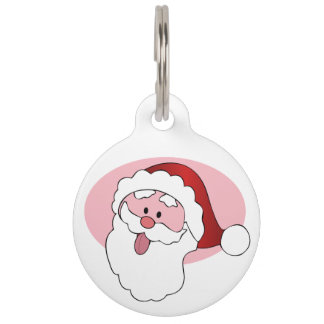 Funny Santa custom pet tags