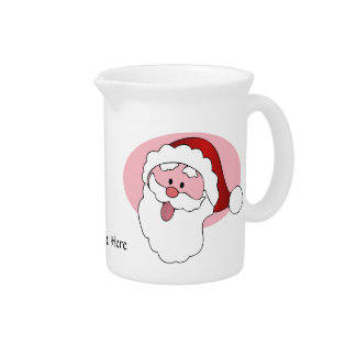 Funny Santa custom pitcher