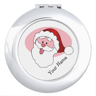Funny Santa custom pocket mirror Travel Mirror
