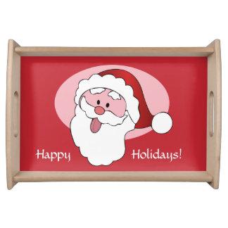Funny Santa custom serving trays
