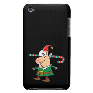 funny santa elf with candy cane thru ears iPod touch cover