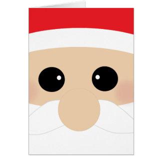 Funny Santa Face Card