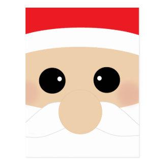Funny Santa Face Postcard