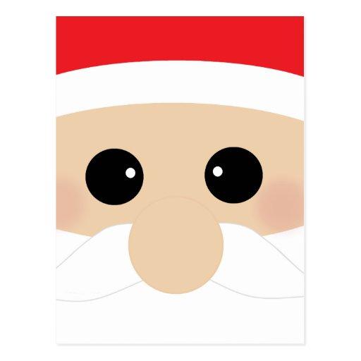 Funny Santa Face Postcards