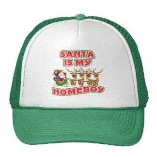 Funny Santa Is My Homeboy Trucker Hat