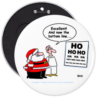 Funny Santa & Optometrist Button