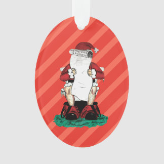 Funny Santa Ornament