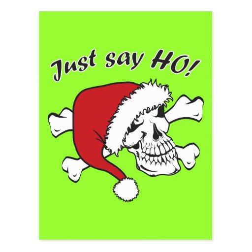 Funny Santa Skull Postcards
