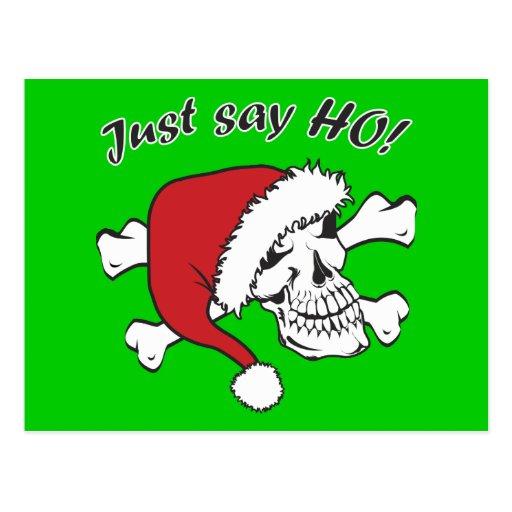Funny Santa Skull Post Card