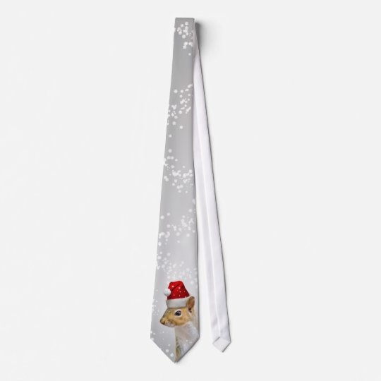 Funny Santa Squirrel Christmas Tie