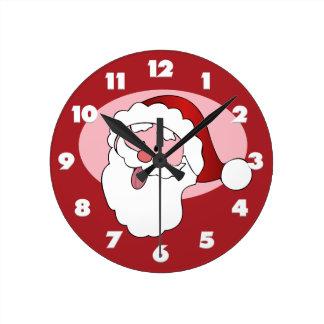 Funny Santa wall clock