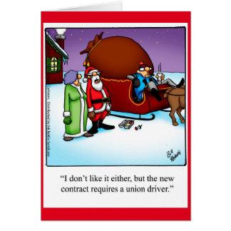 """Funny """"Santa's Driver"""" Christmas Humor Card"""