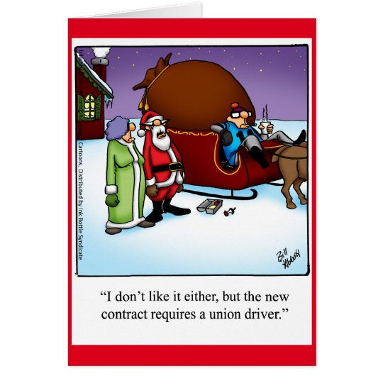 "Funny ""Santa's Driver"" Christmas Humour Card"