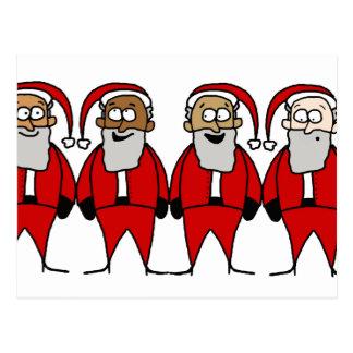 Funny Santas Postcard