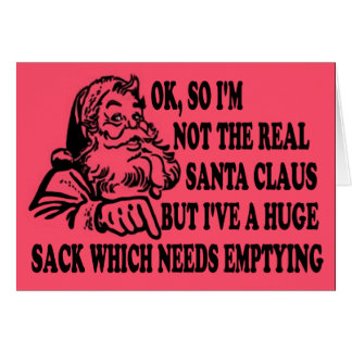 Funny Santa's sack Greeting Card