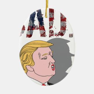 Funny sarcastic anti President Donald Trump Christmas Ornament
