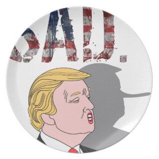 Funny sarcastic anti President Donald Trump Plate