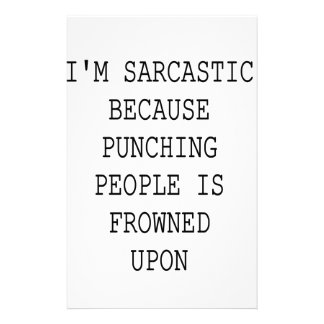 Funny Sarcastic Quote Stationery